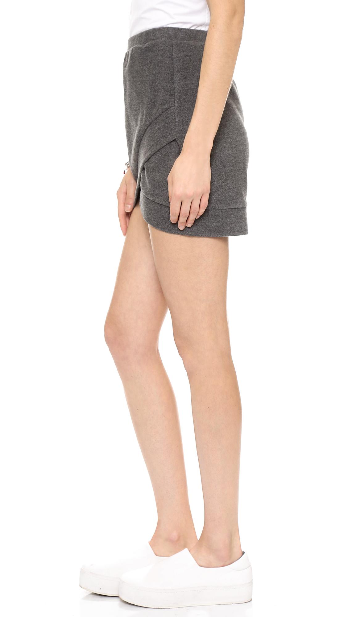 Shades of Grey by Micah Cohen Mini Wrap Skirt | SHOPBOP