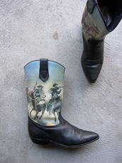shoes,seychelles,cowboy boots,boots,black boots,country,vintage,80s style,1980,etsy