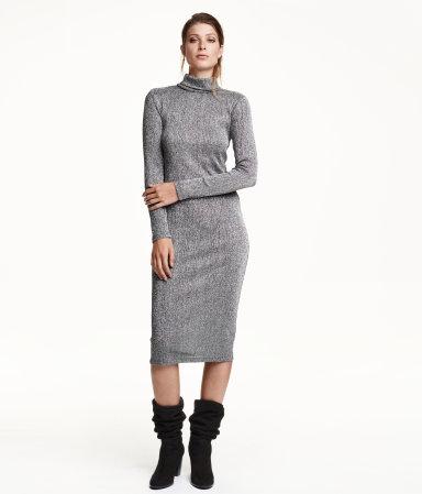 speciale sectie nieuwe afbeeldingen van 100% kwaliteit H&M Glitterende jurk met col 39,99