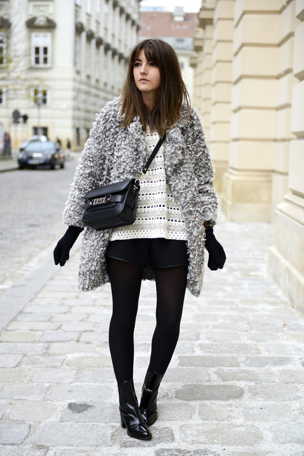 lovely pepa coat sweater shorts shoes bag
