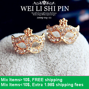 Hello kitty E2125 super fox flower junior bohemia mask earring, small flower stud earring earrings-inStud Earrings from Jewelry on Aliexpress.com