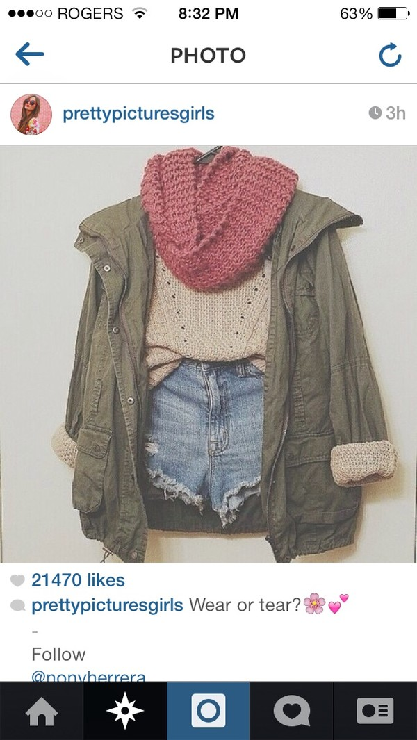 sweater jacket scarf shorts green light jacket drawstring army green jacket