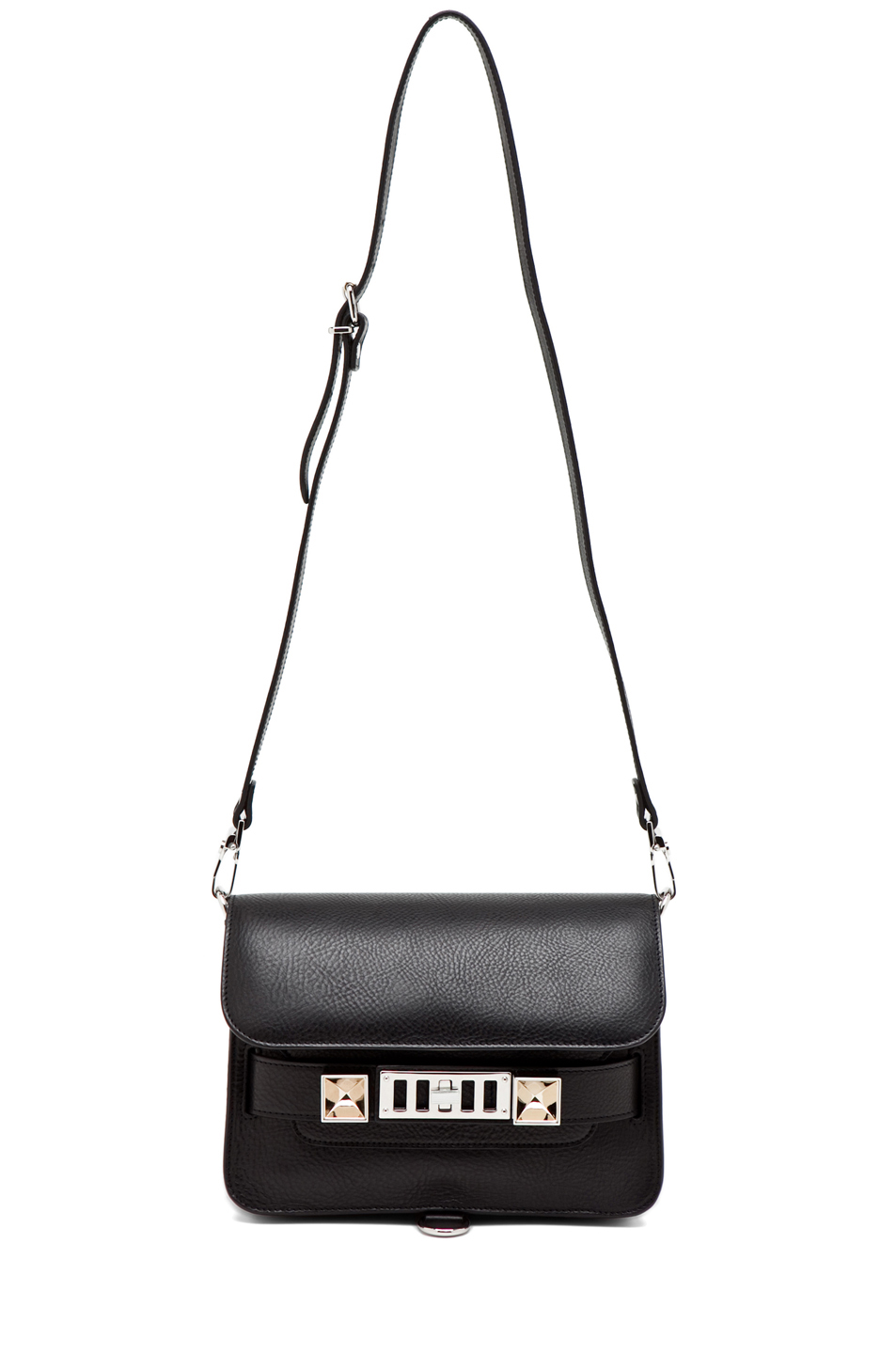 Proenza Schouler | Mini PS11 Classic Smooth Leather Shoulder Bag in Black