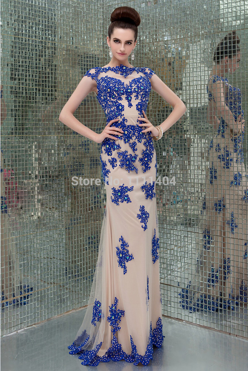 Aliexpress.com : buy free shipping sexy evening dress with appliques with beading hot sell in 2014 (happy time bridal) from reliable dress for your size suppliers on happy time bridal store