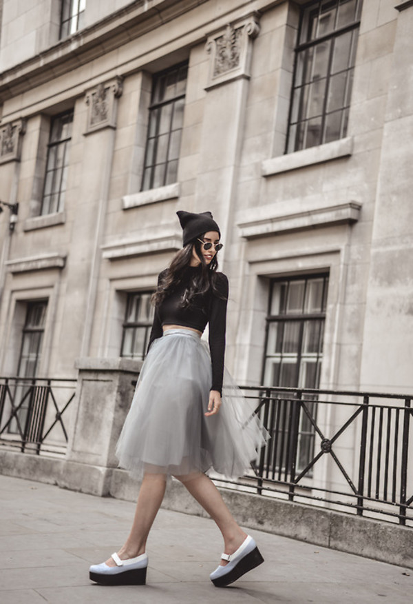 elle may blogger shoes skirt