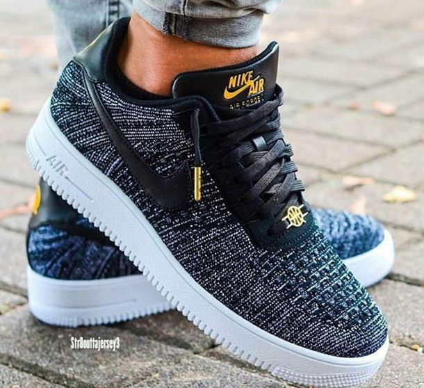 new arrival b4752 02008 shoes nike air nike flyknit nike air force 1 nike sneakers low top sneakers  nike black