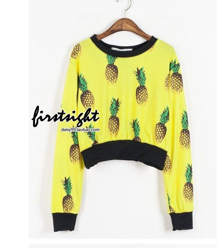 Original design MAX Harajuku style fruit pineapple prints fashion Tee shirt New | eBay