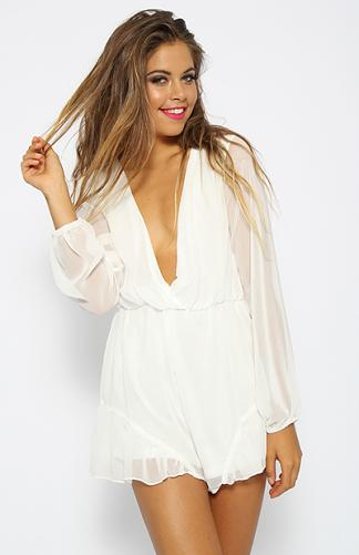 Unstoppable Playsuit - White | Back In Stock | Clothes | Peppermayo