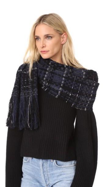 Rag & Bone scarf blue
