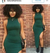 dress,olive green,green,green dress,black boots,black afro,turtleneck,turtleneck dress,army green,halter dress,halter top,slit,slit dress,bodycon dress,bodycon,maxi,maxi dress,party dress,classy dress,cute dress,girly dress,elegant dress,cocktail dress,evening dress,prom dress,long dress,homecoming,homecoming dress,date outfit,birthday dress,clubwear,club dress,graduation dress,engagement party dress,wedding clothes,wedding guest,romantic dress,sexy,sexy dress,sexy party outfits,sexy party dresses
