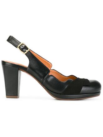 women pumps leather black shoes