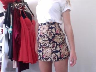 skirt gold intricate black pencil skirt design pattern