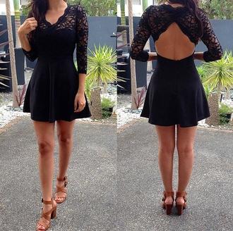 shoes high heels dress blouse lace black lace dress homecoming dress short little black dress open back dress