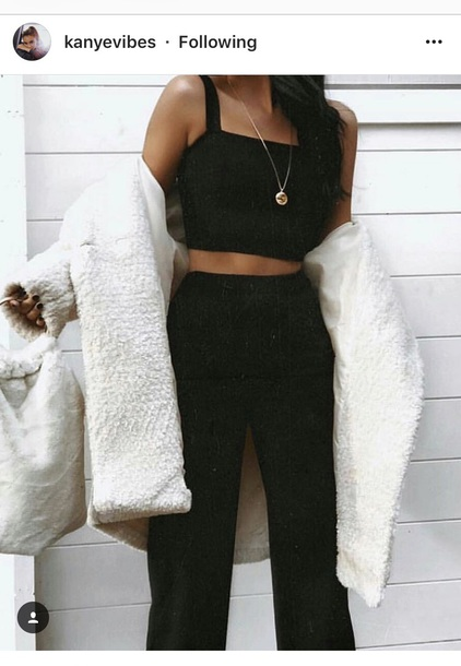 jumpsuit black set