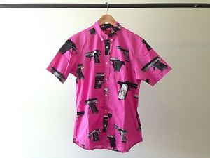 Supreme Guns Shirt Pink Short Sleeve Shirt Box Logo Camp Cap Safari CDG M | eBay