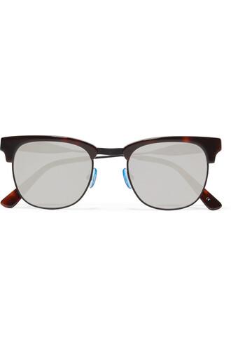 metal sunglasses mirrored sunglasses silver