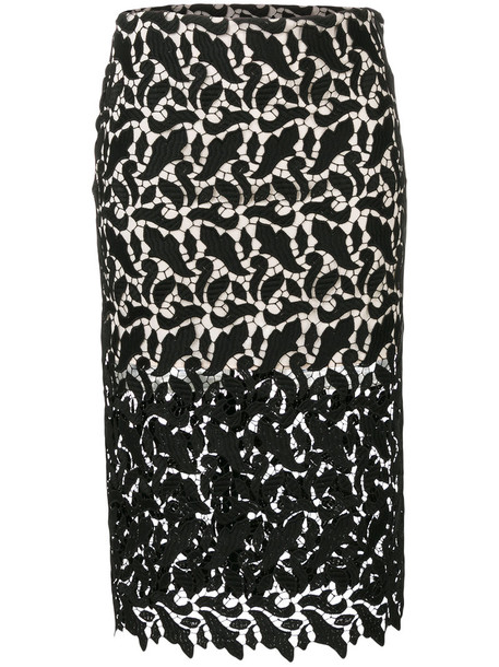 Emporio Armani skirt pencil skirt sheer women lace black