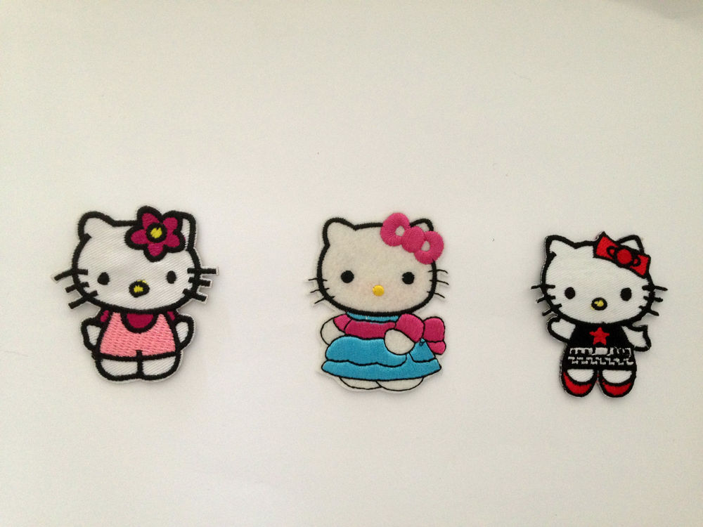 You choose hello kitty miffy cat pussy iron on patch embellishment applique