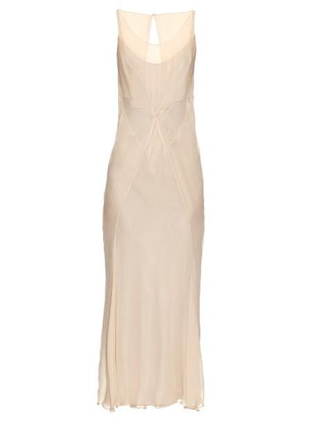 MAISON MARGIELA dress chiffon dress chiffon silk