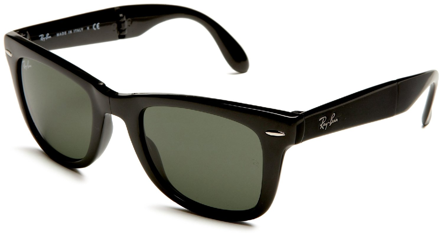 ray ban unisex rb4105 folding wayfarer sunglasses  amazon: ray ban unisex rb4105 folding wayfarer sunglasses,black frame/g15xlt lens,50 mm: ray ban: clothing