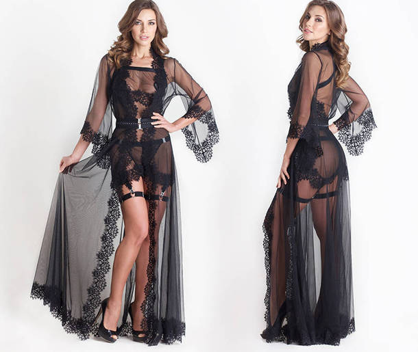 robe Black sheer