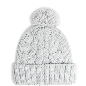 Pom Pom Cable-Knit Beanie - Mango - Polyvore 8a9952bf023