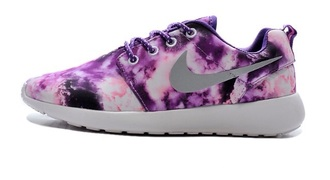 shoes nike roshe run roshe runs flames purple nike shoes nike nike shoes for women love happy