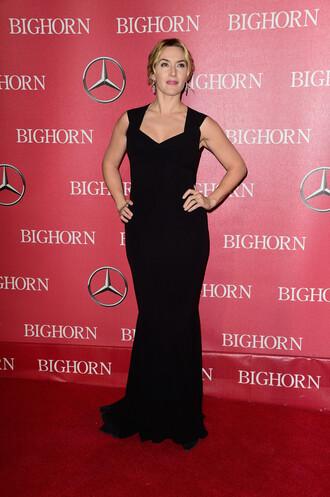dress black dress maxi dress gown kate winslet prom dress
