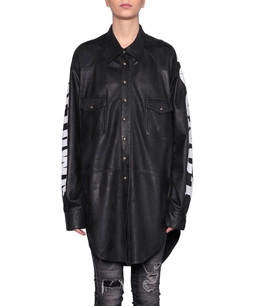 Faith Connexion shirt leather shirt oversized leather top