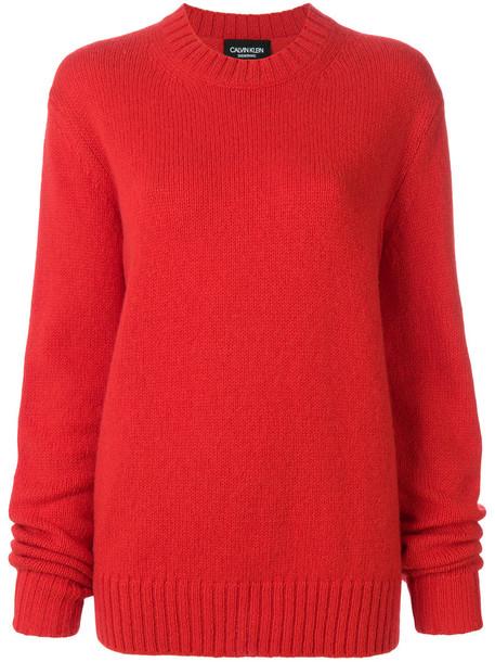 CALVIN KLEIN 205W39NYC jumper women mohair wool knit red sweater