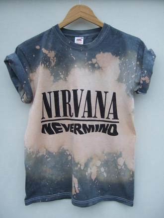 t-shirt nirvana grunge