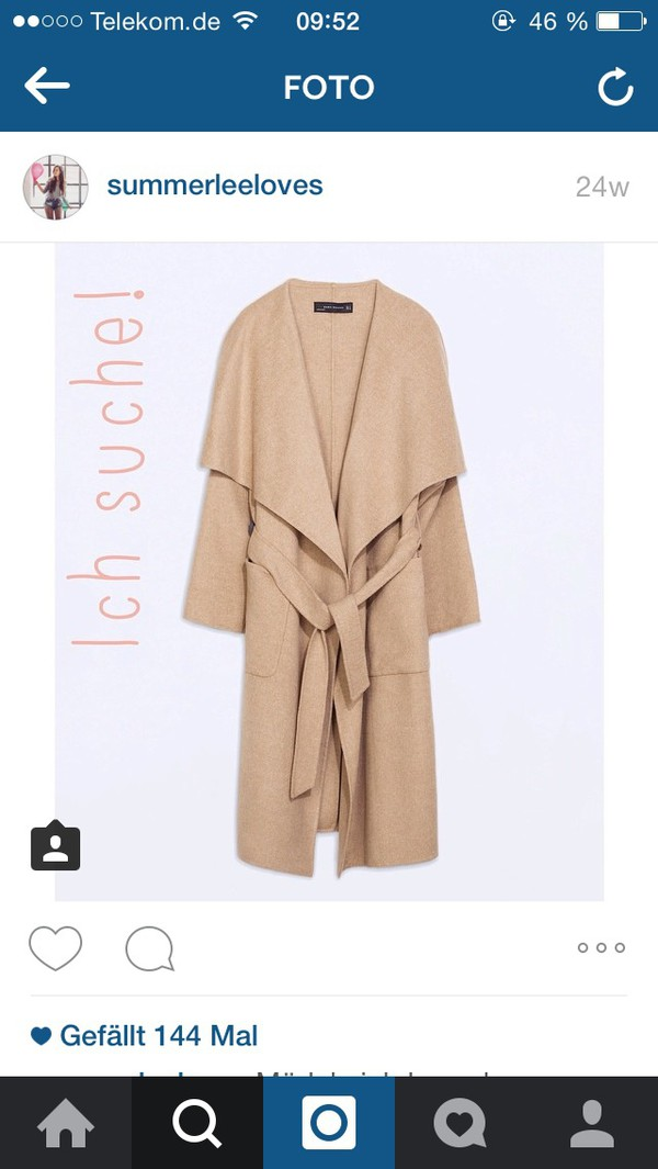 coat zara coat camel handmade zara coat wool zara collection!! handmade wool trench zara coat lapel collar long trench coat bloggers style fashion clothes autumn/winter belted coat loose coat jumpsuit adidas originals