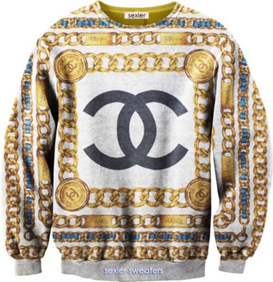 chanel shirt gold
