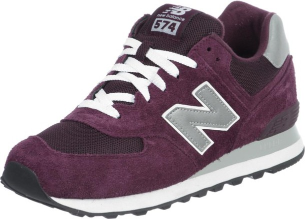 new balance 574 women maroon
