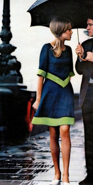 dress navy dress knee length dress three-quarter sleeves paris