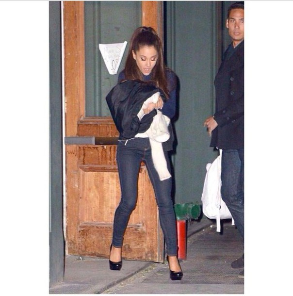 ariana grande sweater black heels