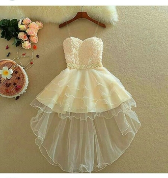 dress homecoming dress party dress cream dress