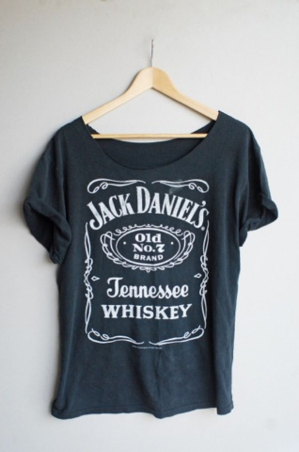 shirt t-shirt jack daniel's