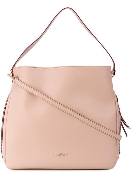 Hogan women bag tote bag leather purple pink