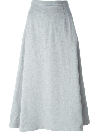 skirt midi skirt midi grey