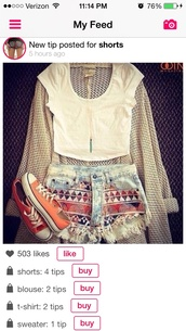 shoes,peach,converse,shorts,tribal pattern,sweater