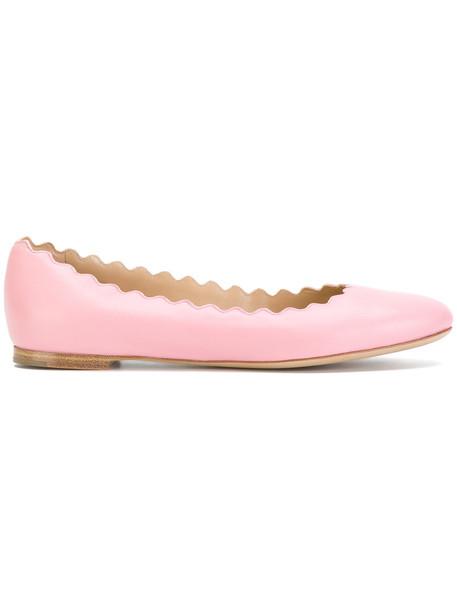 Chloe women shoes leather purple pink