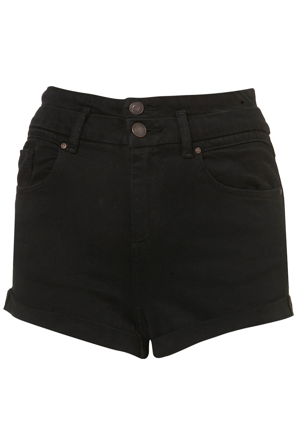 MOTO Black High Waisted Shorts - Shorts - Clothing - Topshop USA on Wanelo