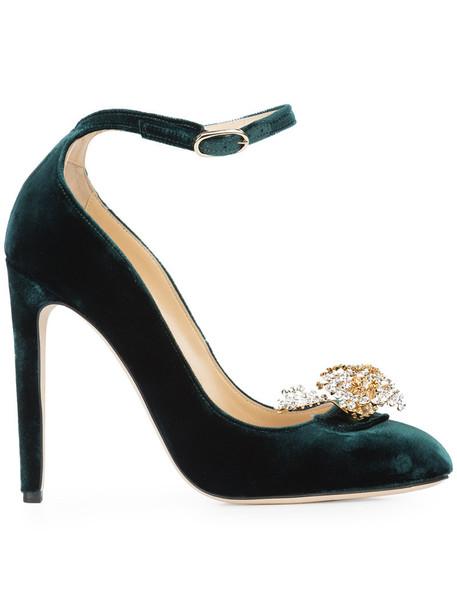 CHLOE GOSSELIN women pumps leather green shoes