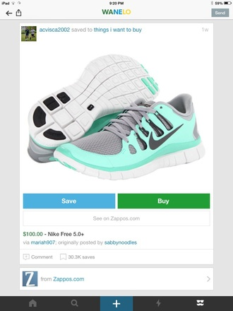 shoes nike running nike shoes gray blue teal sneakers