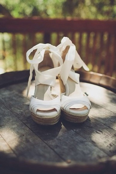 shoes ribbon white shoes wedges white wedges strappy bow cork