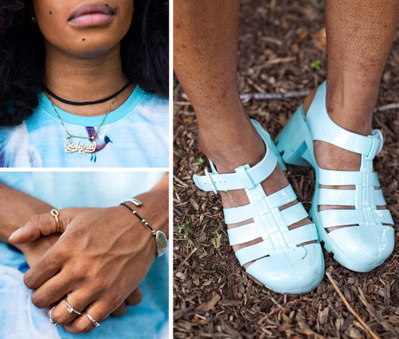 shoes sandals sza stylish celebrity celebrity style jellies black hippy music festival tde