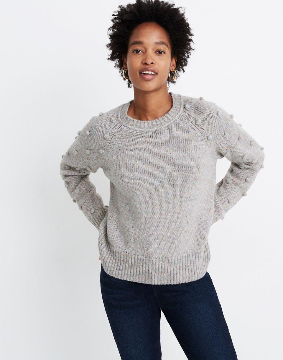 Women's Palmroy Bobble-Sleeve Pullover Sweater