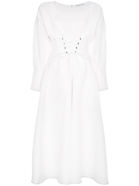 Rejina Pyo dress women midi white cotton