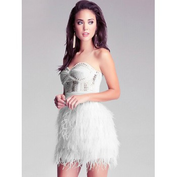 Flock feather dress
